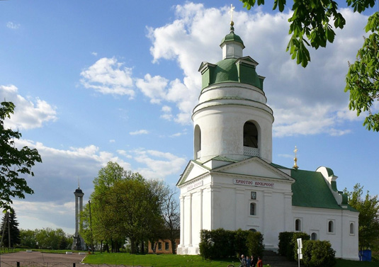 St. Nicolas' church with bell-tower 18th century, Pryluky